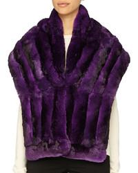 Écharpe en fourrure violette