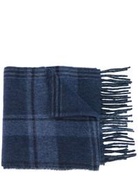 Écharpe en laine à carreaux bleu marine Polo Ralph Lauren