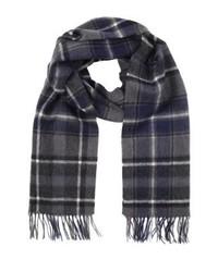 Écharpe en laine à carreaux grise foncée Jack & Jones