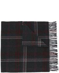Écharpe en laine à carreaux grise foncée Polo Ralph Lauren