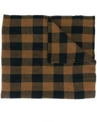 Écharpe en laine à carreaux marron foncé Barena