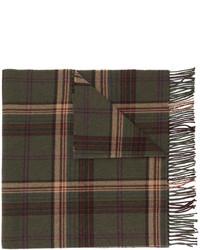Écharpe en laine à carreaux olive Polo Ralph Lauren