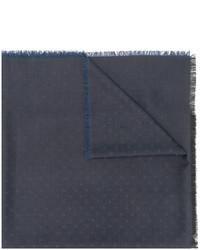 Écharpe en laine á pois bleu marine Dolce & Gabbana
