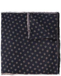 Écharpe en laine á pois bleu marine Lardini