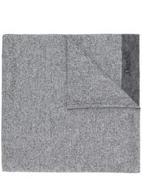 Écharpe en laine à rayures horizontales grise Church's