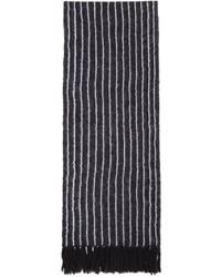 Écharpe en laine à rayures verticales bleu marine 3.1 Phillip Lim