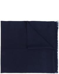 Écharpe en laine bleu marine Emporio Armani