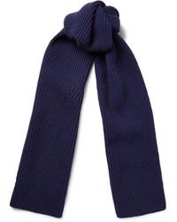 Écharpe en laine bleu marine Lanvin