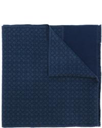 Écharpe en laine bleu marine Salvatore Ferragamo