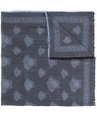 Écharpe en laine bleu marine Versace