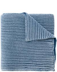 Écharpe en laine bleue Stone Island