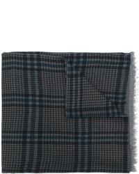 Écharpe en laine en pied-de-poule bleu marine Valentino