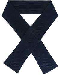 Écharpe en laine en tricot bleu marine A.P.C.
