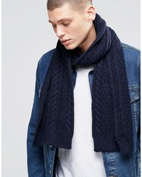 Écharpe en laine en tricot bleu marine Asos