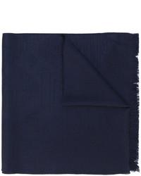 Écharpe en laine en tricot bleu marine Emporio Armani