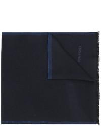 Écharpe en laine en tricot bleu marine Tom Ford