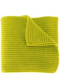Écharpe en laine en tricot chartreuse Stone Island