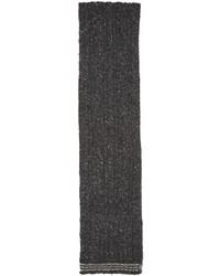 Écharpe en laine en tricot gris foncé Thom Browne