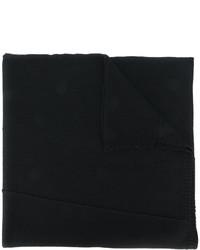 Écharpe en laine en tricot noire Isabel Benenato