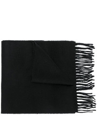 Écharpe en laine en tricot noire Pringle