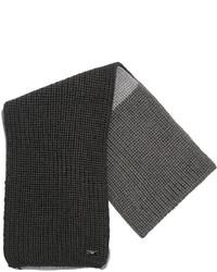 Écharpe en laine gris foncé