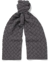 Écharpe en laine gris foncé Bottega Veneta