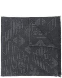 Écharpe en laine gris foncé Emporio Armani