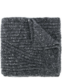 Écharpe en laine gris foncé Pringle