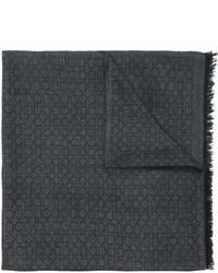 Écharpe en laine gris foncé Salvatore Ferragamo