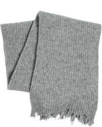 Écharpe en laine grise