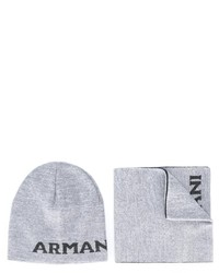 Écharpe en laine grise Armani Junior