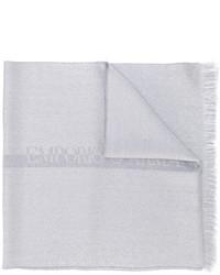 Écharpe en laine grise Emporio Armani