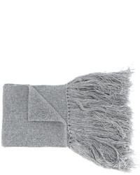 Écharpe en laine grise Lanvin