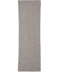 Écharpe en laine grise MAISON KITSUNÉ
