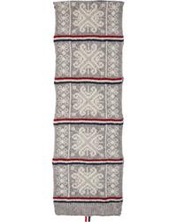 Écharpe en laine grise Thom Browne
