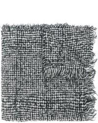 Écharpe en laine grise Zanone