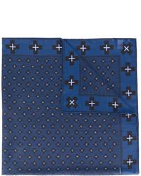 Écharpe en laine imprimée bleu marine Givenchy