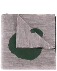 Écharpe en laine imprimée grise