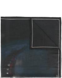 Écharpe en laine imprimée noire Givenchy
