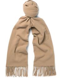 Écharpe en laine marron clair Acne Studios