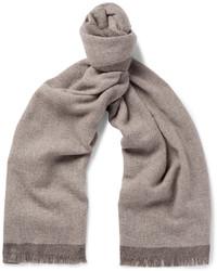 Écharpe en laine marron clair Ermenegildo Zegna