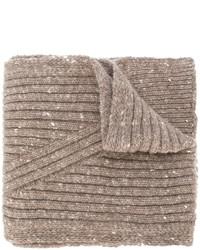 Écharpe en laine marron clair Pringle