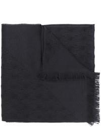 Écharpe en laine noire Versace