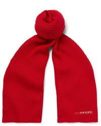 Écharpe en laine rouge Prada