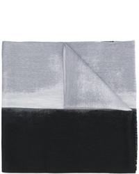 Écharpe en laine tressée grise Jil Sander