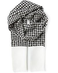 Écharpe en pied-de-poule blanc et noir Haider Ackermann