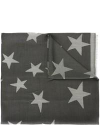Écharpe en soie à étoiles grise foncée Stella McCartney