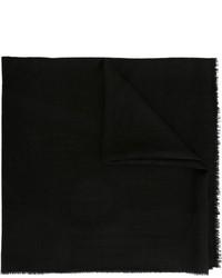 Écharpe en soie à fleurs noire Chanel