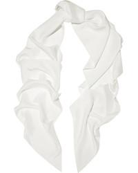 Écharpe en soie blanche Lanvin