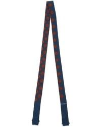 Écharpe en soie bleu marine Lanvin